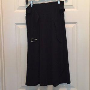 Black Banana Republic Wrap Skirt